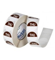 Label Avery 24MM Thursday Removable Brown/White 1000/Roll