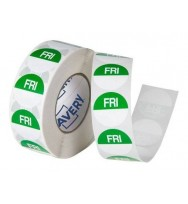 Label Avery 24MM Friday Removable Green/White 1000/Roll