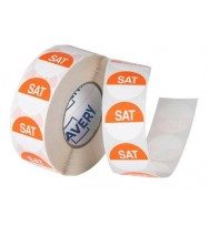 Label Avery 24MM Saturday Removable Orange/White 1000/Roll