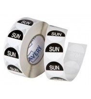 Label Avery 24MM Sunday Removable Black/White 1000/Roll