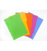 5 Tab Colour PP Lollyshop Dividers