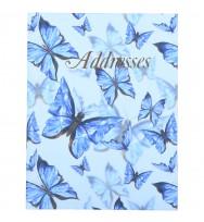 ADDRESS BOOK C/LAND BLUE BUTTERFLIES 72LF