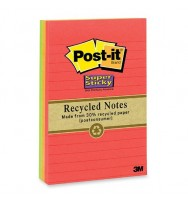 Notes Post-It 660-3SSNRP 98X149MM Natures Hues Asstd Pk 3