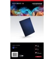 Binding Cover Leathergrain Blue pk 100