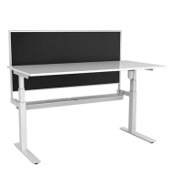 Paramount Electric Single Height Adjustable Desk with Screen
