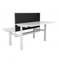 Paramount Back to Back Electric Height Adjustable Desks with Screens
