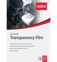 Transparency film nobo a4 inkjet hp uf0025 pk25