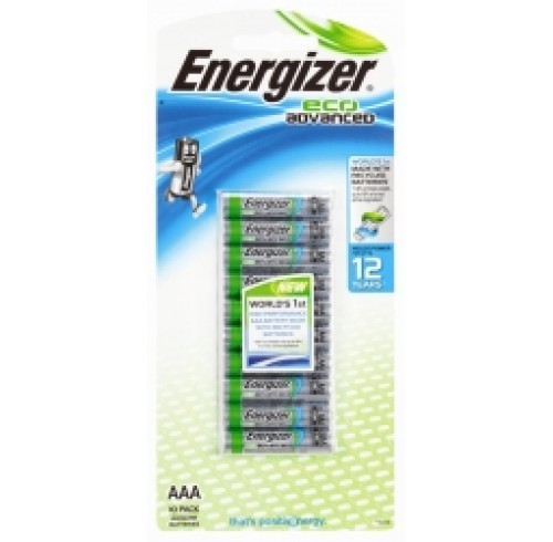 Energizer Eco Advance AAA pk 10