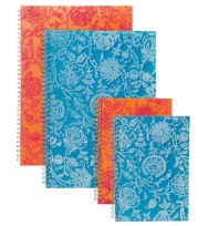 Note book spirax a4 pp 532 flocked blue 240pg - pack of 5