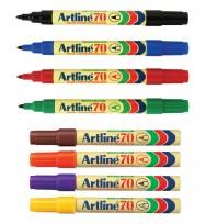 Marker artline 70 bullet asst bx12