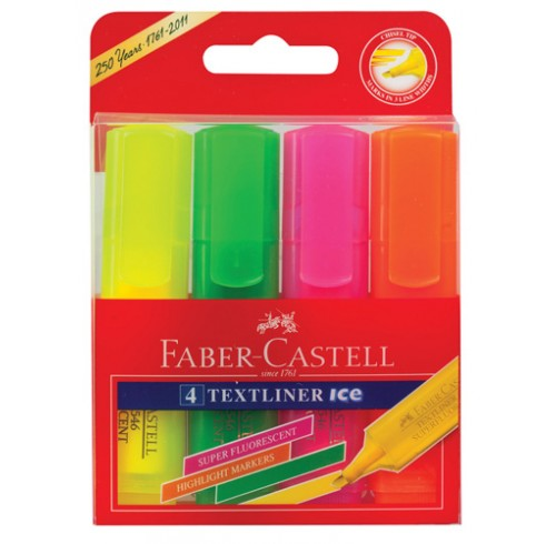 Faber-Castell Textliner Ice Highlighters Assorted 4 Pack