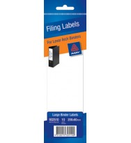 Filing label avery large 200x600mm 10's manual