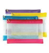 Pencil case sovereign fashion pvc mesh zip 278x200 asst