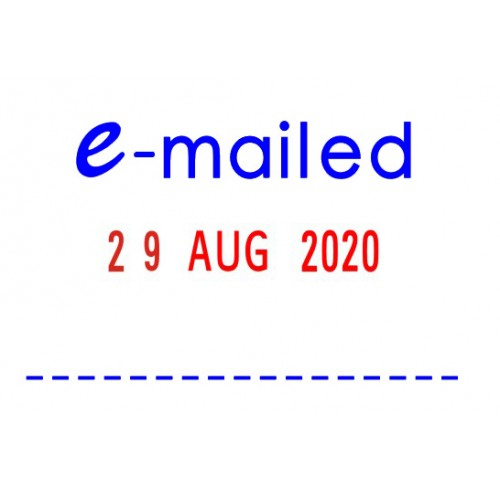 Stamp Deskmate Self Inking Emailed Date