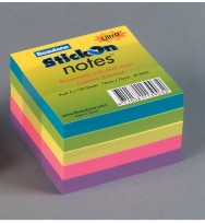 Stick On Notes Beautone 76x76 Assorted Ultra colours pad of 5
