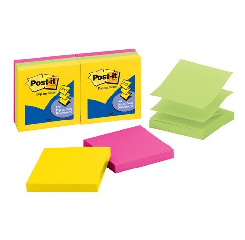 3M Post-it Pop-up Notes Prints 6 Pack 73x73 Assorted Ultra Colours