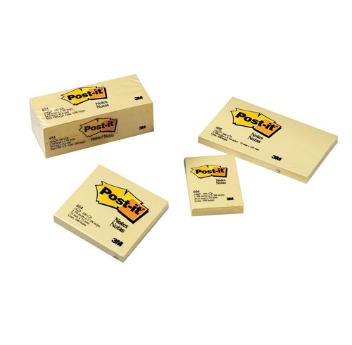 3M Post-it Lined Notes Yellow 12 Pack