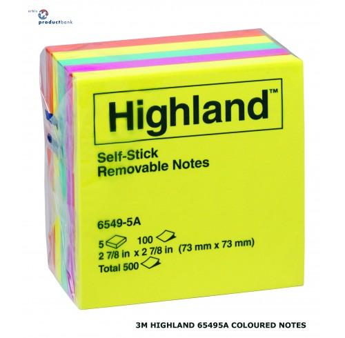 Highland note pads #6549-5a (73x73) asst