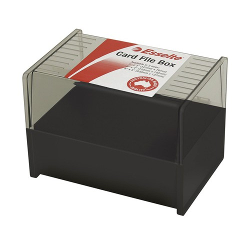 System card box sws esselte 6x4 black