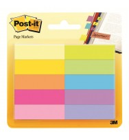 Post-it pagemarkers 670-10ab 10 colours 50 shts ea