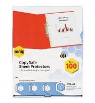 Sheet protectors A4 Marbig bx100