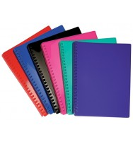 Display book a4 refillable gloss black 20p