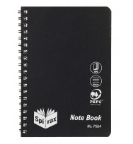 Note book spirax p564 pp s/o 80pg black - pack of 5
