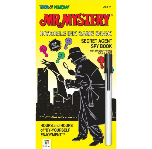 Book hinkler mr mystery invisible ink game book