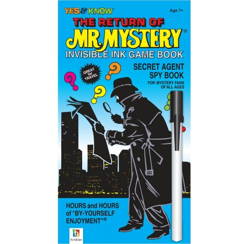 Book hinkler return of mr mystery invisible ink