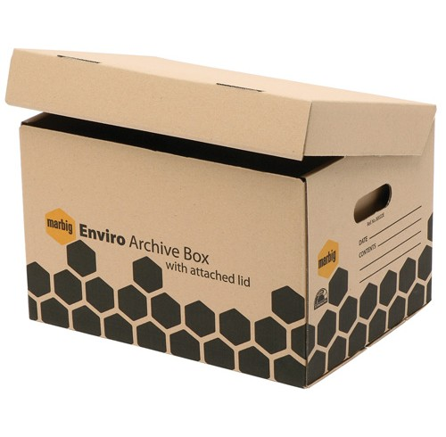 Archive Box with attached Lid- Marbig Eco Friendly