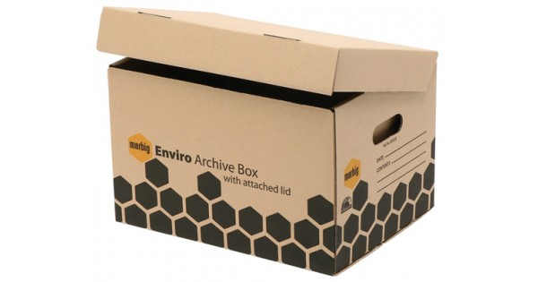 Archive Box With Attached Lid Marbig Eco Friendly
