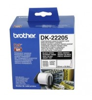 Brother Continuous White Paper Label Roll 62mmx 30.48m
