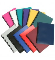 Display Book Sovereign A4 Refillable Assorted Colours pk 10