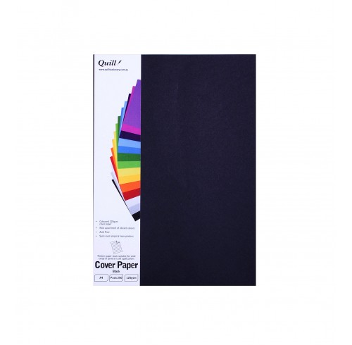Cover Paper Quill A4 125GSm Black Pack 250 Sheets