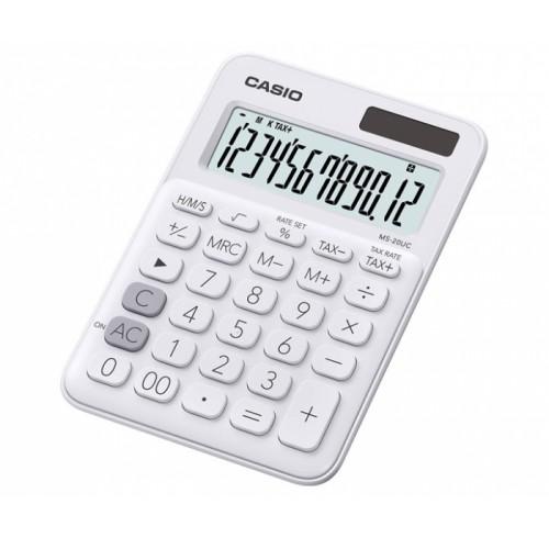 Casio 12 Digit Desktop Calculator -White