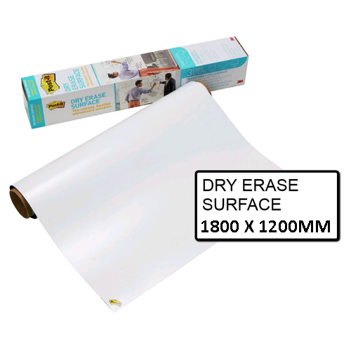 Dry Erase Surface Post-It 1800MM X 1200MM White Super Sticky