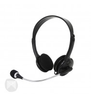 Headphones MConnected Multimedia on Ear Headset With Mic -Black