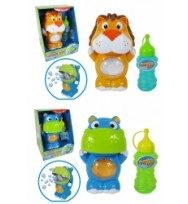 Toy Bubble Machine Hand held pack of 4 assorted