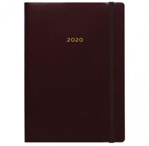 Diary 2020 Collins B6 Metropolitan London 'Week to View' -Burgundy