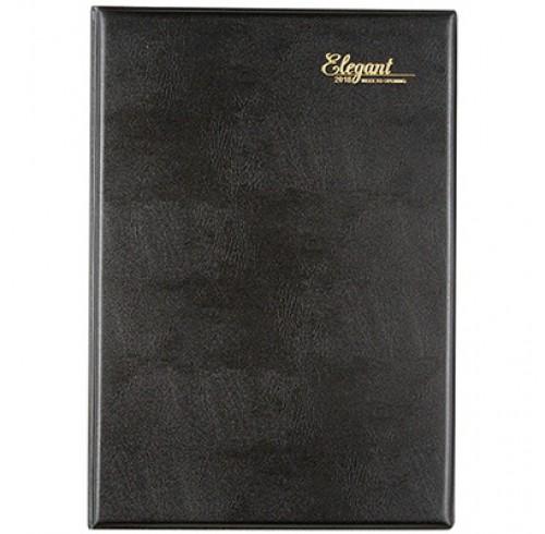 Diary 2020 Cumberland A4 Elegant Casebound 'Week to View' -Black