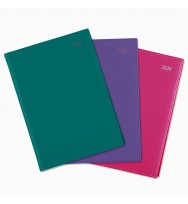 Diary 2020 Cumberland A6 SOHO Wiro Bound 'Day to Page' Assorted colours