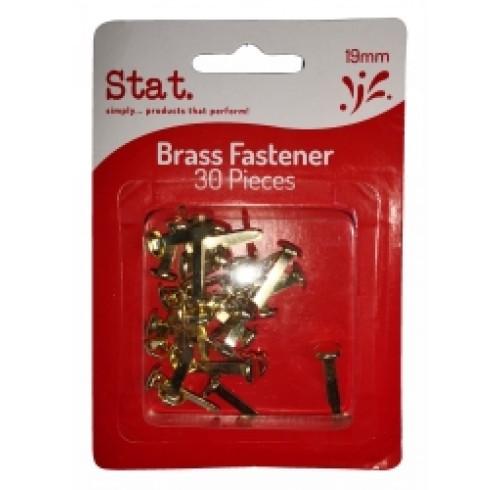 STAT PAPER FASTENER BRASS 1MM PK30 EA