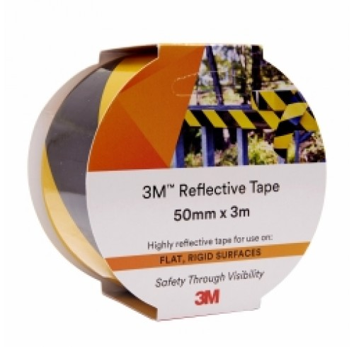 Reflective Tape 3M 50xm x 3m  Yellow/Black