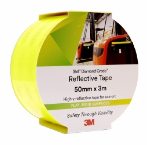 Reflective Tape 3m 50mm x 3m - Yellow/Green