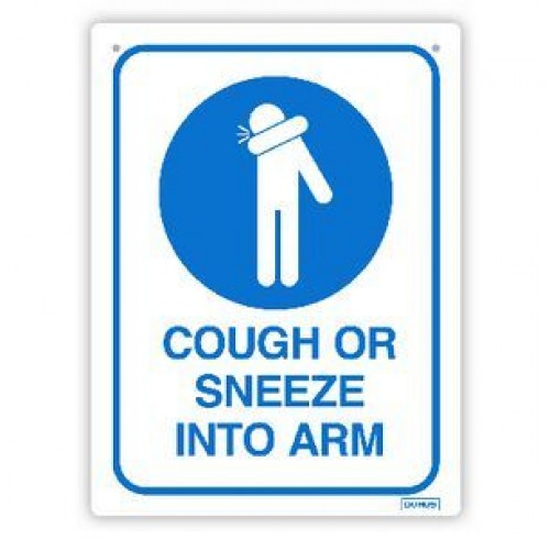 DURUS Cough or Sneeze Into Arm Wall Sign