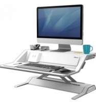 Workstation Fellowes Lotus Sit stand DX - White