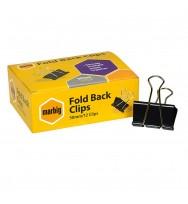 Foldback Clips Marbig 50mm Box 12