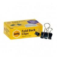 Foldback Clips Marbig 19mm Box 12