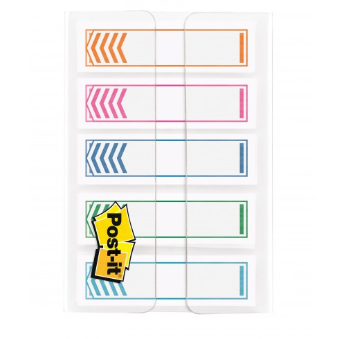 Flags Writable Arrow Post-It 12MM 684-SH-NOTE Assorted Pk 100