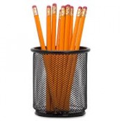 Pencil cups, caddies, calendar stands